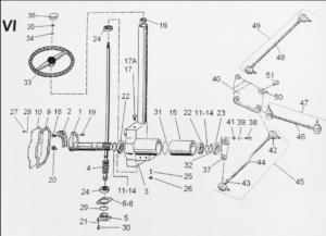 Części zamienne do wózka platformowego WNA1320 WAN13-020 WA-2